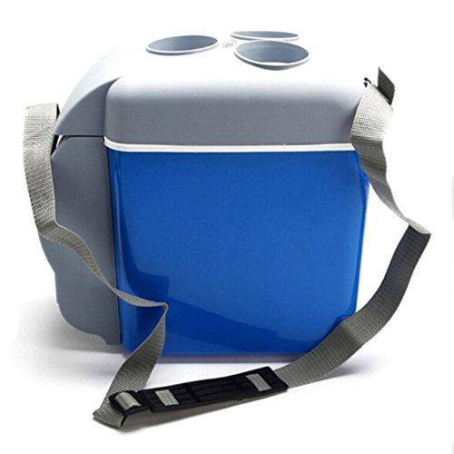 AUTOINBOX Réfrigérateur de voiture, 12 V, portable, pour camping, voyage, chauffage, multifonction, électrique (7,5 L)