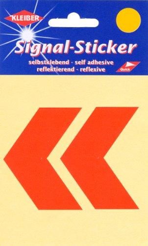 Kleiber Chevrons Stickers réflecteurs, Orange