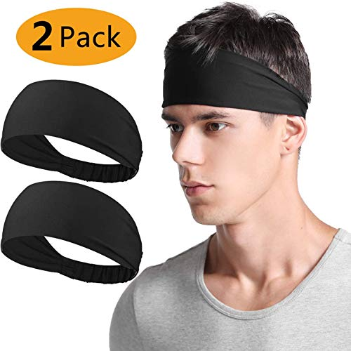 poshei Mens Headband, Mens Sweatband & Sports Headband for Running,...