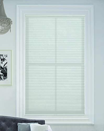 BlindsAvenue Cellular Honeycomb Cordless Shade 9 16 Single Cell Light Filtering White Size 24 product image