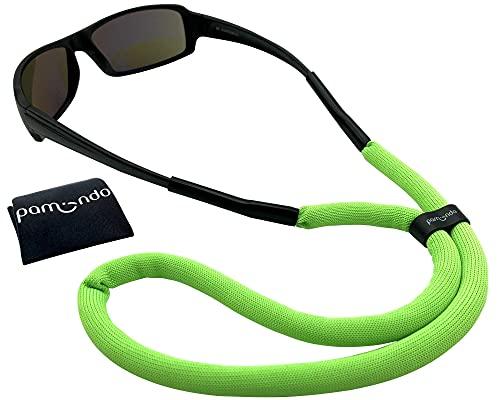pamindo Brillenband schwimmfähig für Wassersport & Freizeit - Sportbrillenband für Damen, Herren & Kinder - schwimmend & sicherer Halt in signal-grün