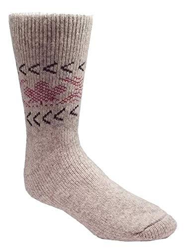 J.B. Field's Icelandic Men's -40 Below 'True North' Thermal Winter Socks (2PK) (Large)