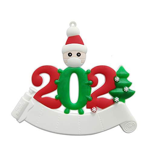 strimusimak Adorno Colgante De árbol De Navidad Familiar 2020 Decoraciones Navideñas Navideñas Colgante Colgante De árbol De Navidad Nochebuena Familiar Hombre Blanco un Pueblo ⭐