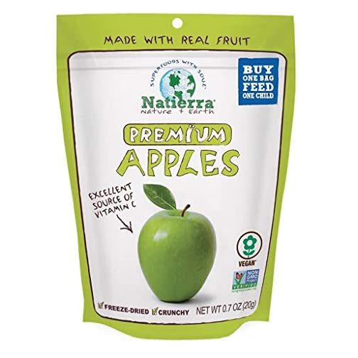 NATIERRA Premium Freeze-Dried Apples | Non-GMO & Vegan| 0.7 Ounce (Pack of 8) 3