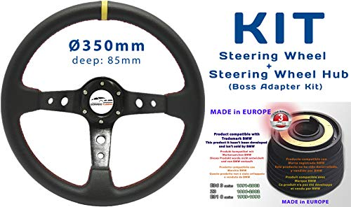 [SET 34R+DTi-70] Dorado Tuning Tiefes Lenkrad & Lenkradnabe/Boss Adapter Kit/Nabe/Rallye/Drift/Race