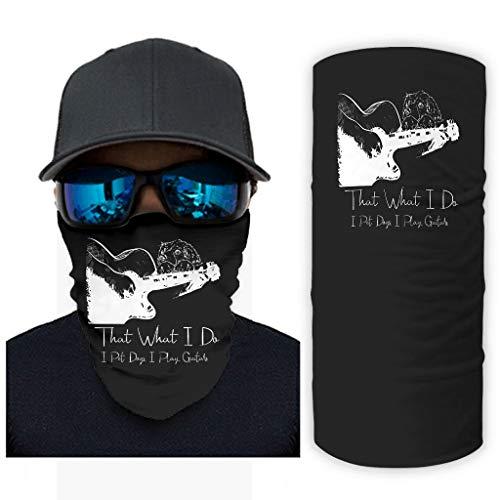 CCMugshop Máscara de pasamontañas con texto en alemán 'Das ist was ich tue, ich Pet Dog Jugar Guitar Print', color blanco, talla única