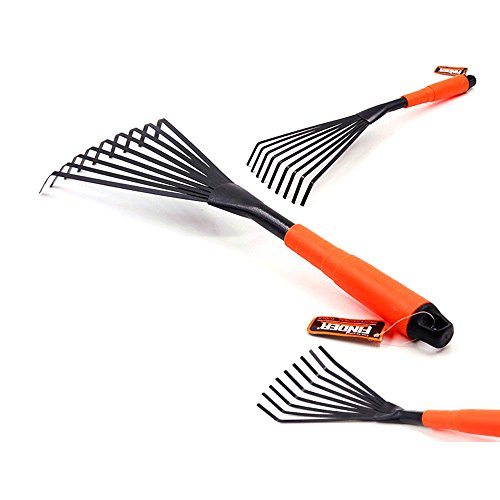 Finder Steel 9 feet Hand Fan Leaf Rake Garden Tool