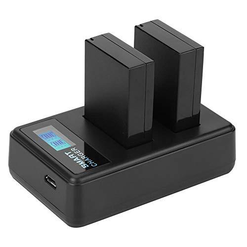 Tiffasha Batería de cámara - Baterías de cámara para L-P-E12 Juego de Cargador de Pantalla LCD para Rebel SL1 100D M M2