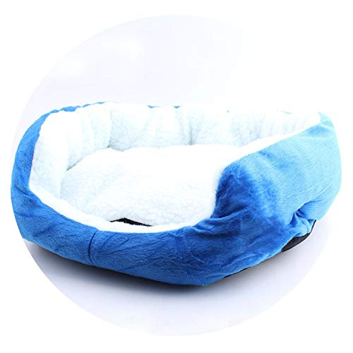 1pc 50x40cm Pet Dog Bed Cotton Warming Dog House Soft Material Dog Cat Kennel Warm Winter Dog Cat Pet Products,Blue,50x40cm (Little House In The Big Woods Quiz)