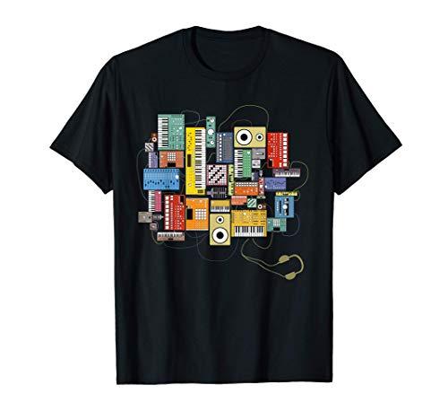 Synthetiseur pour Musicien Electronique Beatmaker et DJ T-Shirt