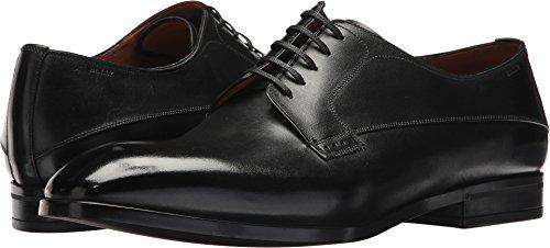 Bally Herren Lantel Derby Oxford-Schuh aus gebürstetem Kalbsleder, Schwarz, Größe 43