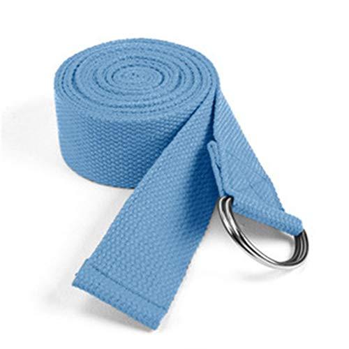 Alysays Sturdy Frauen Yoga Stretch Strap Multi-Farben D-Ring Gürtel Fitness Übung Gym Seil Figur Taille Bein Widerstand Fitness Bands Yoga Gürtel Small (Color : Light Blue)