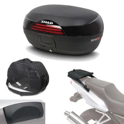 Sh46borehe132 - kit fijacion y maleta baul trasero + respaldo + bolsa...