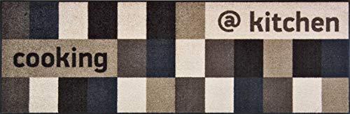 Bavaria Home Style Collection - Tappeto da cucina di alta qualità, colore: marrone e beige, tappeto passatoia da cucina lavabile, 60 x 180 cm