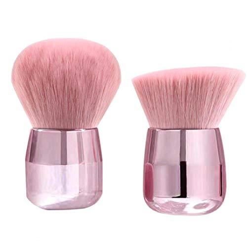 Maquillage poudre Brosses Fondation Ensemble Champignon Professionnel Visage Tête Grand Minéral Rose d'or 2PCS Souvenirs