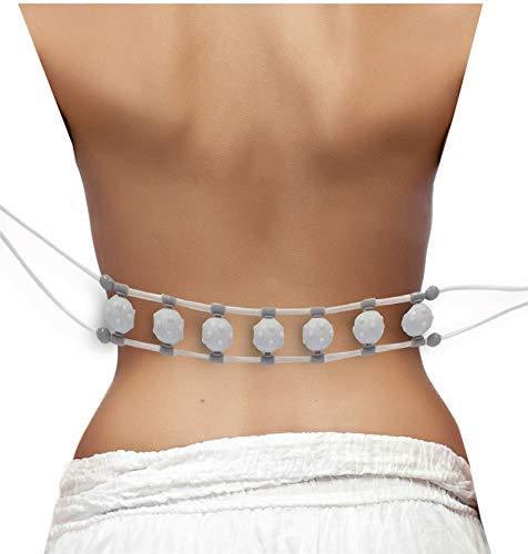 Massageband mit Noppenkugeln | 7 Rollen mit Massagenoppen | für z.B. Rücken oder Nackenpartie | Massage