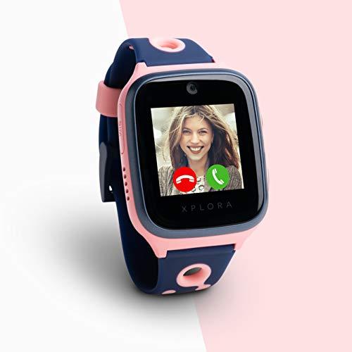 XPLORA 4 Kids Smartwatch Pink inkl. SIM-Karte im Vodafone Netz und 100€ Amazon-Gutschein | Smartwatch für Kinder | Kinderuhr mit GPS | Telefonuhr | GPS-Uhr