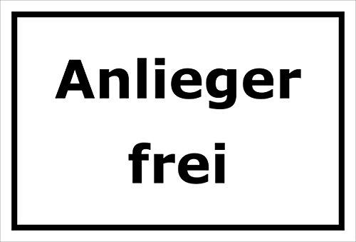Melis Folienwerkstatt Schild Anlieger frei - 30x20cm - Bohrlöcher - 3mm Aluverbund – 20 VAR S00245-232-A