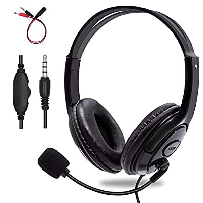 Behomy 3.5mm Computer Headset with Microphone, ...