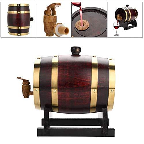 zyy Premium Oak Aging Barrel Alter Sie Ihren Eigener Whisky, Bier, Wein, Bourbon, Tequila, Rum, Hot, Fass Gereifte Leakproof Weinlagerung 1.5L,Natural