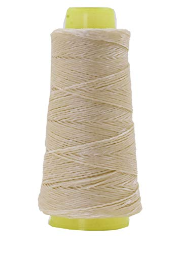 Mandala Crafts Whipping Twine, Lacing Cord String from Wax Polyester for Cable Tie, Sail Repair, Gardening, Crafting (Natural)