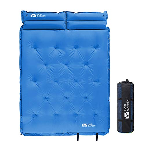 PRIDE S Luftmatratze im Freienzelt Isomatte Feuchtraum-Pad Verbreiterte verdickte Doppel Air Cushion Camping Camping (Color : Blue, Size : B)