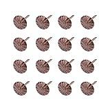 MICGEEK MICGEEK 100 Stücke Polsternägel Ziernägel Vintage Polsterung Nägel Sofa Schaum Nagel Polster dekorative Möbel Nägel antike deko Reißnägel Reißzwecke für Dekoration Blumenmuster Pflaumen
