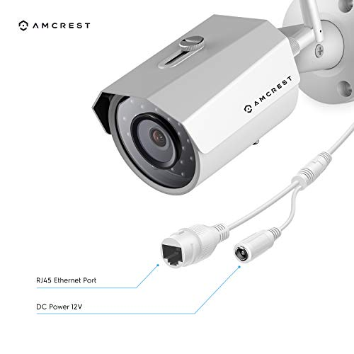 Amcrest 2K 3MP Wireless Outdoor Security Camera ProHD 1080P / 1296P (2304TVL) Bullet IP WiFi Outdoor Camera - Full HD 1080P @ 30fps and 1296P @ 20fps, IP67, 98ft Night Vision, IP3M-943W (White)