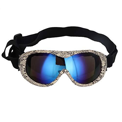 hond uv bescherming zonnebril Hond Zonnebril Winddichte UV Bescherming Huisdier Skiën Zonnebril Hond Sneeuwbril Oogslijtage Bescherming met Verstelbare Band voor Medium tot Grote Honden, 2
