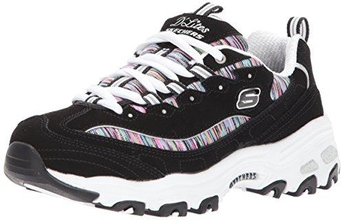 Skechers Sport Women's Dlites Interlude Sneaker,black/multi,11 M US