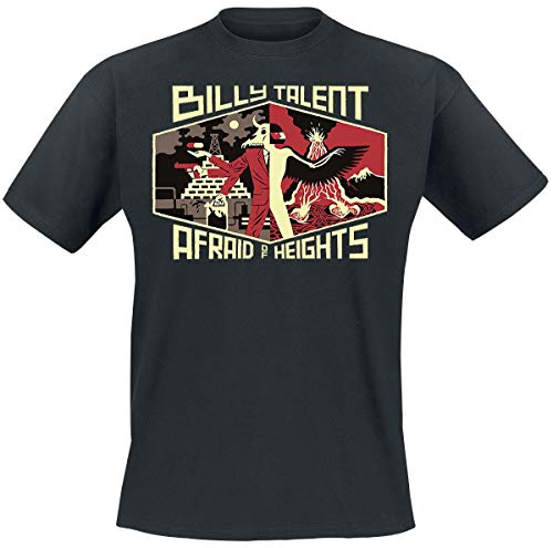Billy Talent Afraid of Heights Männer T-Shirt schwarz M 100% Baumwolle Band-Merch, Bands