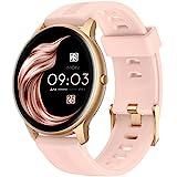 AGPTEK Smartwatch Mujer, LW11 Reloj Inteligente Deportivo 1.3 Pulgadas Táctil Completa IP68, Monitor de Sueño, Seguimiento del Menstrual, Control de Musica, Regalo Navidad