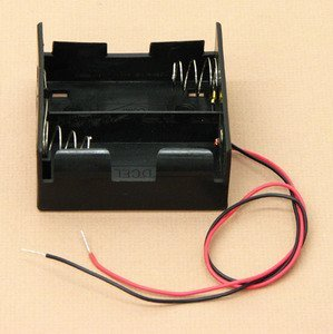 SEOH Double Battery Holder D with 12in Wire Leads
