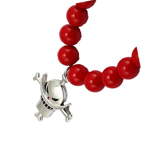 Jjzz Anime Japanese One Piece White Beard Fire Fist Ace Beads Necklace Cosplay Chain Clavicle For Men And Women 240 241