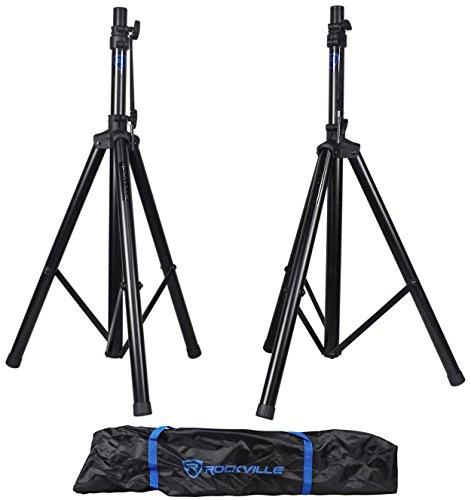 Rockville Pair RVES1 Adjustable Tripod DJ PA Speaker Stands +Carry Bag/Universal