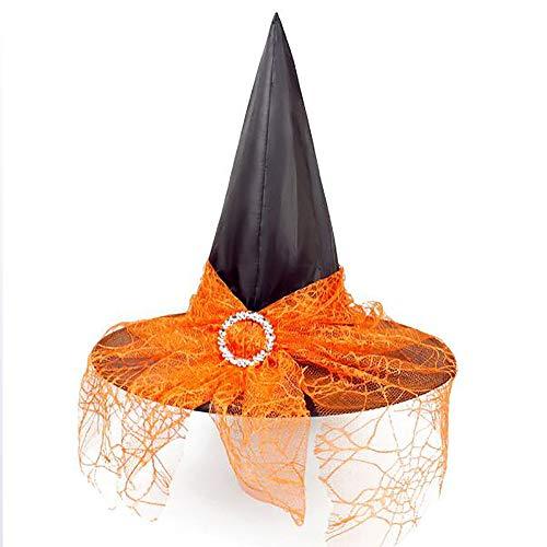 YGD Hoed, Halloween Hoed, Heks Hoed/Volwassen Kinderen Cosplay Heks Tiara Aankleden Polyester Taffeta/Halloween Decoratie Props
