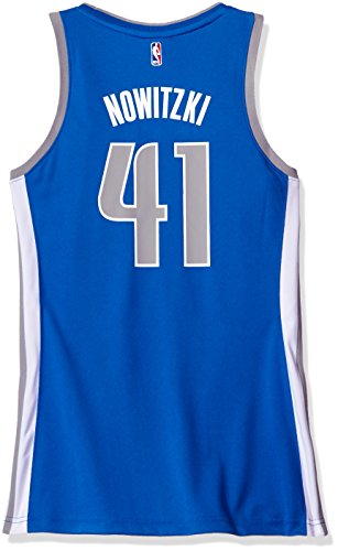 NBA Dallas Mavericks Dirk Nowitzki #41 Women's Replica Road Jersey, Small, Blue