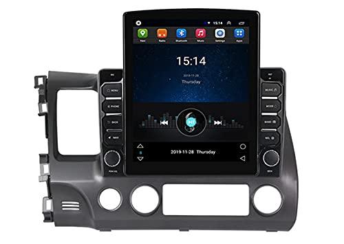 ADMLZQQ Adecuado para Honda Civic 2006-2011 Android 10, Radio EstéReo para AutomóVil, Pantalla TáCtil De 1080p, Reproductor Multimedia, Host De NavegacióN GPS, con WiFi/FM/BT