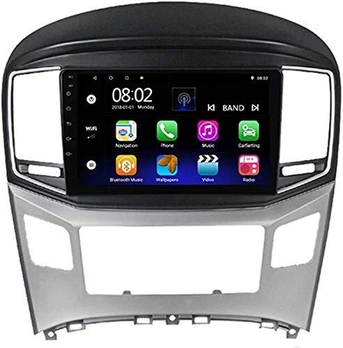 Estéreo para automóvil Android 10.0 Compatible con radio Hyundai H1 2 2017-2018 Navegación GPS Unidad principal de 9 '' Pantalla táctil HD Reproductor multimedia MP5 Receptor de video con 4G WiFi Vid