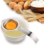 Separatore di uova Tuorlo d'uovo Filtro bianco Commestibile Divisore di uova Setaccio per uova in acciaio inossidabile Utensile da cucina Strumento per cottura/cottura Estrattore di uova