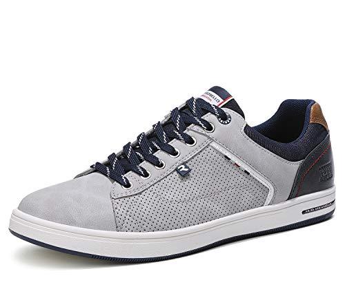 ARRIGO BELLO Zapatos Hombre Vestir Casual Zapatillas Deportivas Running Sneakers Corriendo Transpirable Tamaño 40-46 (D Gris, 45)