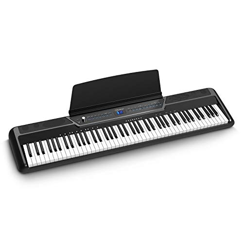 Duoliemi Weighted Digital Piano with Bluetooth, 88 Key Full Size Weighted Electric Keyboard Piano for Beginners, Portable Electric Piano Keyboard with MIDI, Sustain Pedal, Headphone Audio Output