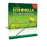 Premium Set aus 12 Packungen Citronella Räucherstäbchen + Räucherstäbchenhalter für Garten...