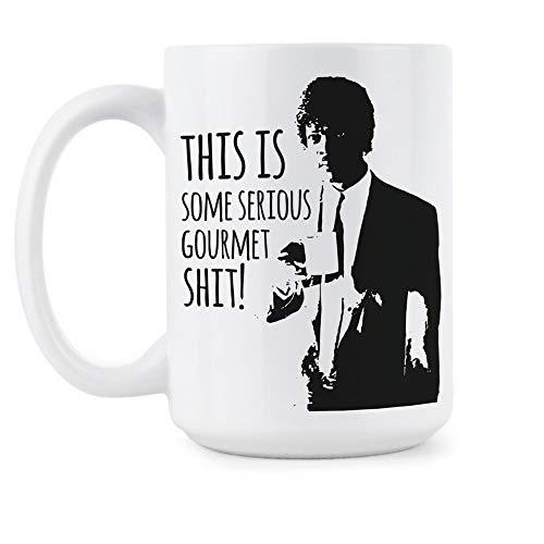 Serious Gourmet Mug Some Serious Gourmet Shit Coffee Mug Funny Pulp Fiction Cup 6TRKU2