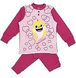 Baby shark - pigiama baby shark bambina in caldo cotone 3 4 5 6 7 anni inverno 2021 - 4-anni - fuxia