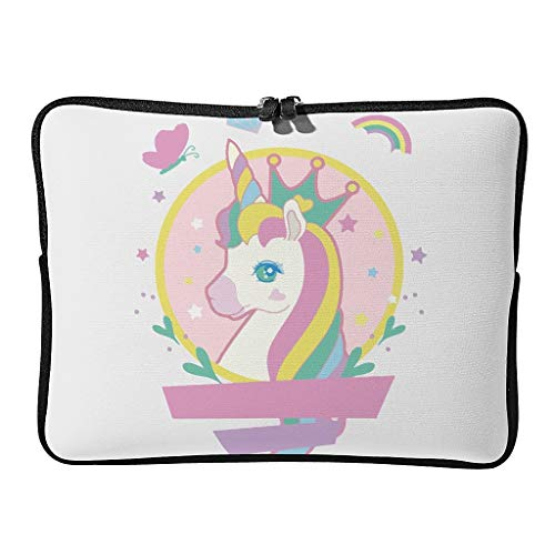 Unicorn Laptop Case Bag Waterproof Lightweight Basics 10-17 Inch Design for The Business Professional Travel Commuter White 15 Zoll