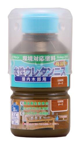 和信ペイント 水性ウレタンニス チーク 130ml 屋内木部用 ウレタン樹脂配合 低臭・速乾