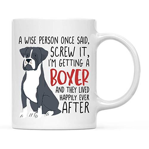 Divertente cane tazza da caffè in ceramica regalo, una persona saggia una volta ha detto di averla vinta sto ottenendo un cane da montagna bernese grigio scuro, confezione da 1, mamma amante degli ani