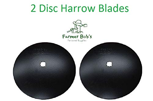 2 of 18' Disc Harrow Blades Dual-Punched 1-1/8' x 1-1/4' Square 11 Gauge Farmer Bob's Parts P1811118114