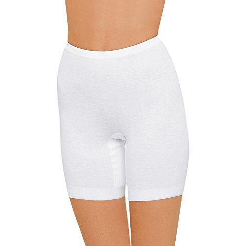 Nina von C. 3er Pack Damen Langbeinschlüpfer - Serie Daily - Schlüpfer mit Langem Bein - Slip mit Bein - 100 Baumwolle - Weiß - Gr. 46